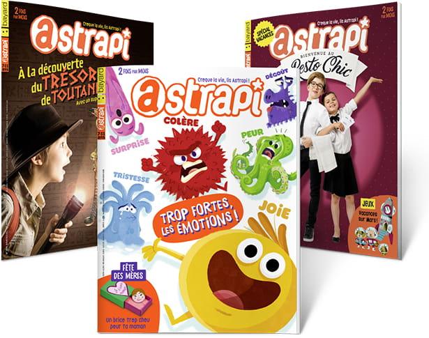 Les couvertures des derniers magazines Astrapi