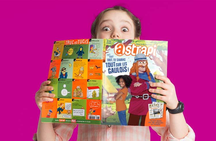 Astrapi, le magazine, photo enfant lisant
