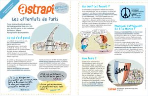Téléchargez le document réalisé par le magazine Astrapi pour parler des attentats de Paris avec votre enfant