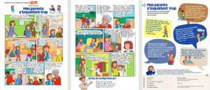 """Téléchargez la BD """"C'est la vie Lulu : Mes parents s'inquiètent trop"""", publiée dans le numéro du 1er février d'Astrapi - Scénario et recueil de témoignages: Valdu. Création: Bernadette Després. Dessin: Marylise Morel. Couleurs: Laurence Croix."""