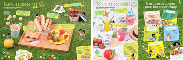 """Pic'nic Party"", Astrapi du 1er juin 2017 - Conception et texte : Bruno Muscat. Stylisme et réalisation : Charlotte Vannier. Photo : Didier Bizet. Illustrations : Sarah Loulendo."