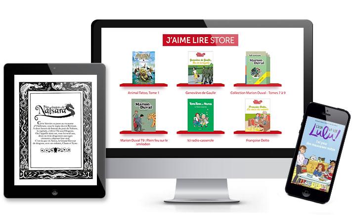 J'aime lire Store (disponible iPhone, iPad, Mac et PC)