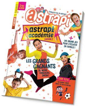 couverture Astrapi n°862, 15 juin 2016