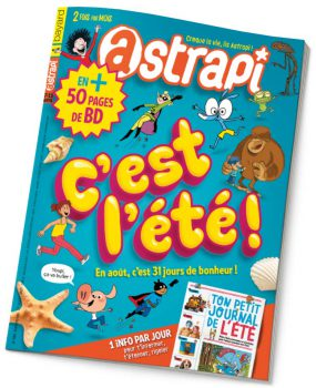 couverture Astrapi n°886, août 2017
