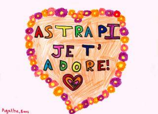 Courrier lecteur Astrapi, Agathe, 8 ans