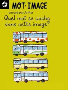 Mot-image, envoyé par Arthur - Quel mot se cache dans cette image ? Réponse : quatre-quarts, le gâteau (4 cars).