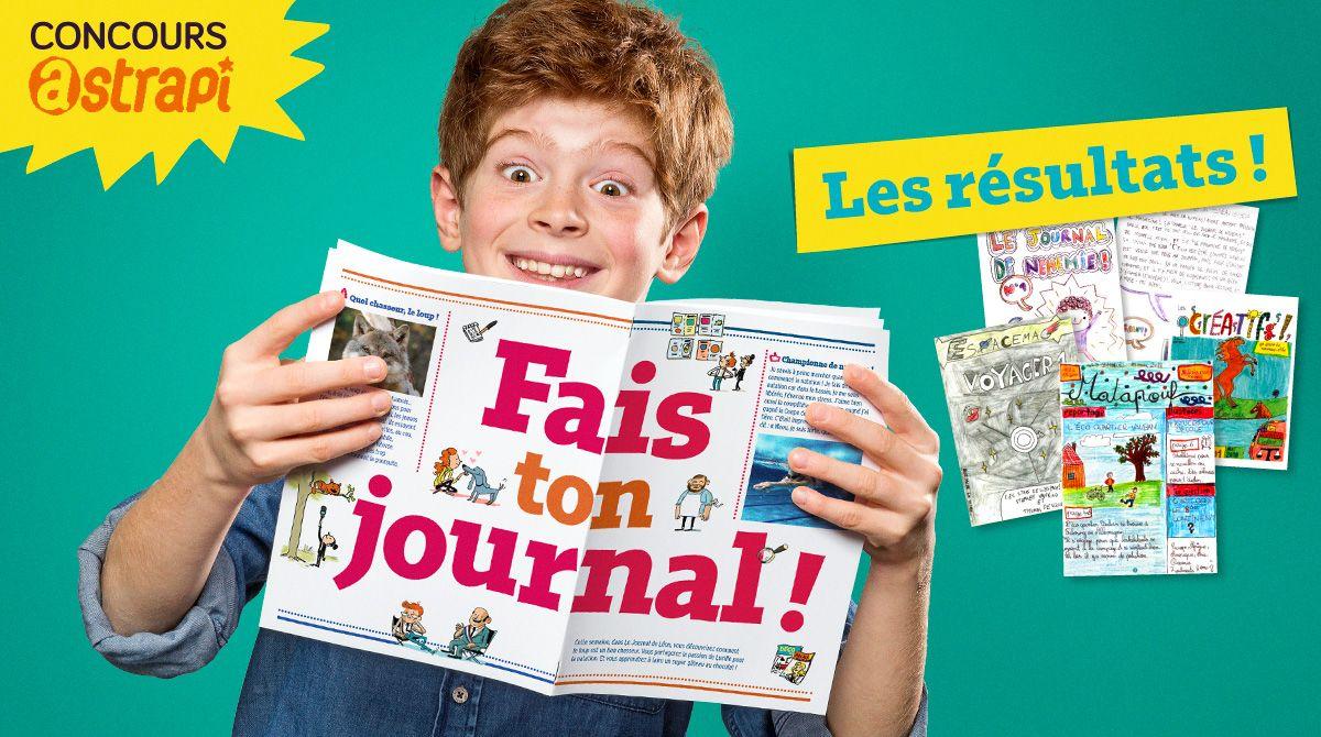 """Résultats du concours Astrapi """"Fais ton journal !"""""""