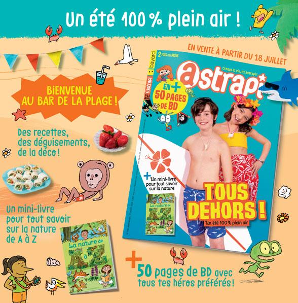 Sommaire du magazine Astrapi n° 908 du 1er août 2018