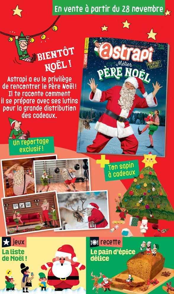 Sommaire du magazine Astrapi n° 915 du 1er décembre 2018
