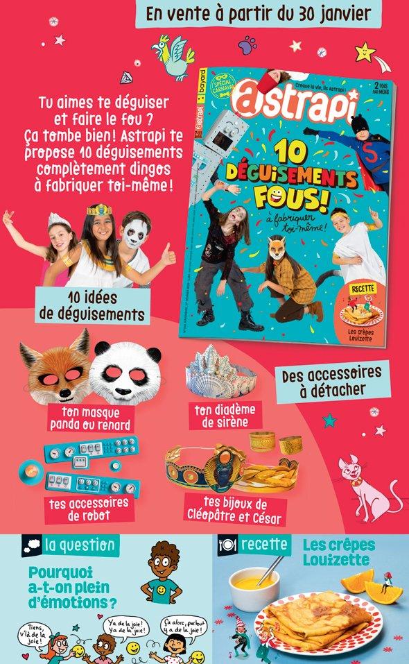 Sommaire du magazine Astrapi n° 919 du 1er février 2019