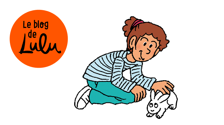 Lulu caresse un petit lapin