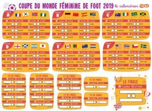 Calendrier Coupe Du Monde Feminine De Foot Astrapi