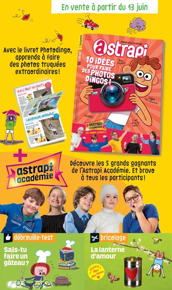 Sommaire du magazine Astrapi n° 928 du 15 juin 2019