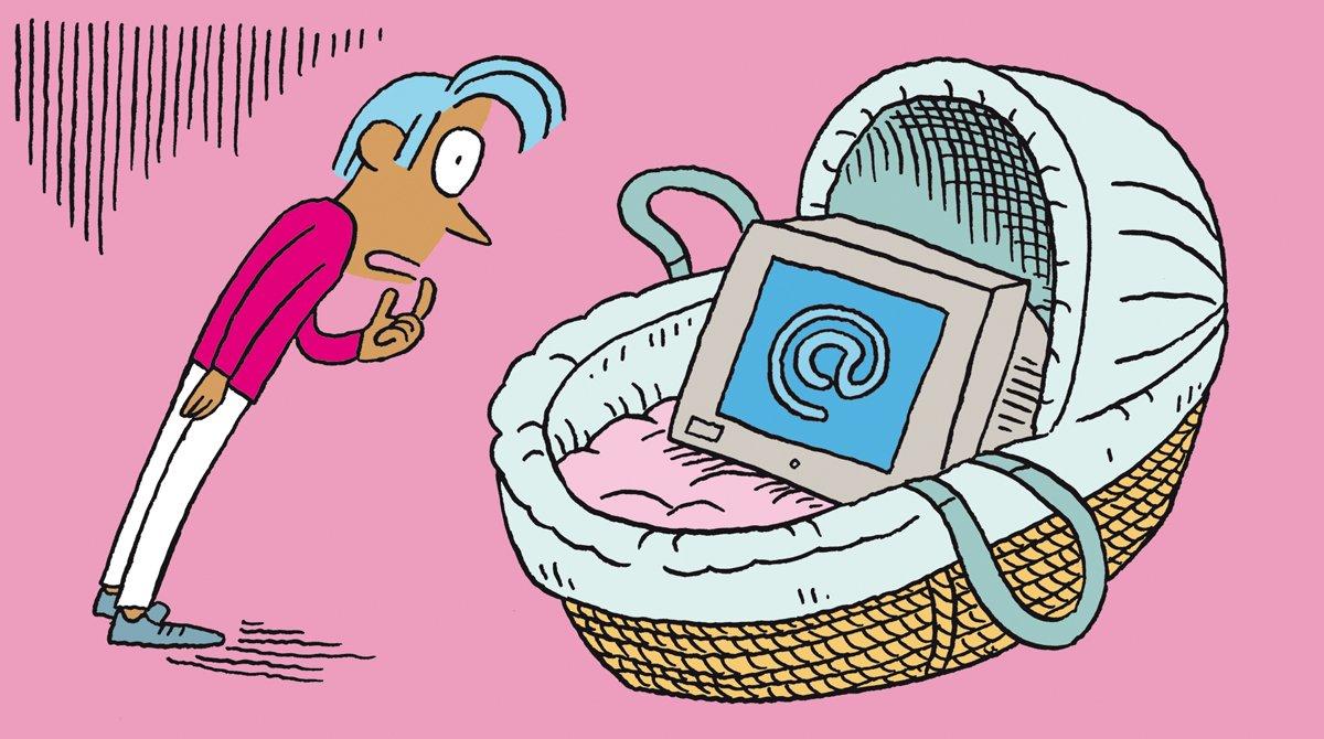 """""""Salut l'info !"""" - Podcast du 2novembre2019 - Internet - Vie après la mort - Illustration : El Don Guillermo."""