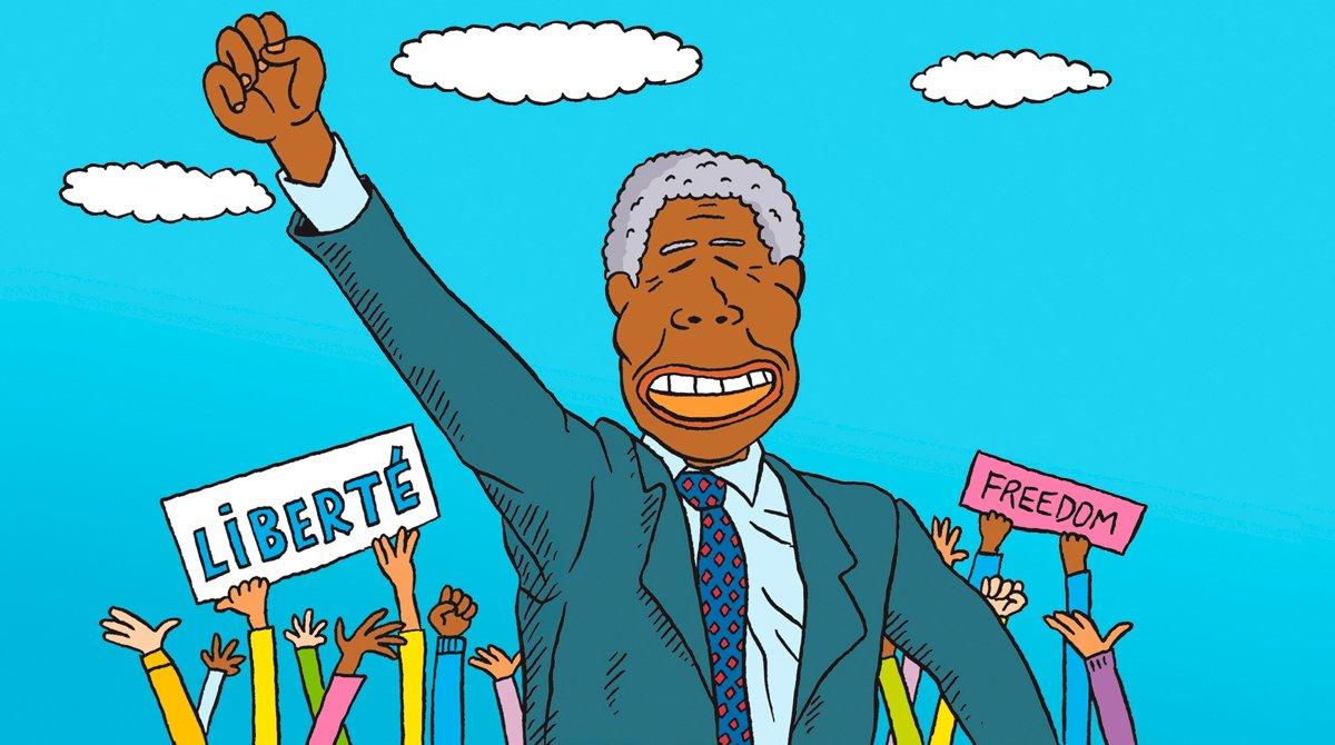 """""""Salut l'info!"""", podcast du 8février2020: Nelson Mandela; Sarah Abitbol; comment surmonter sa timidité?"""