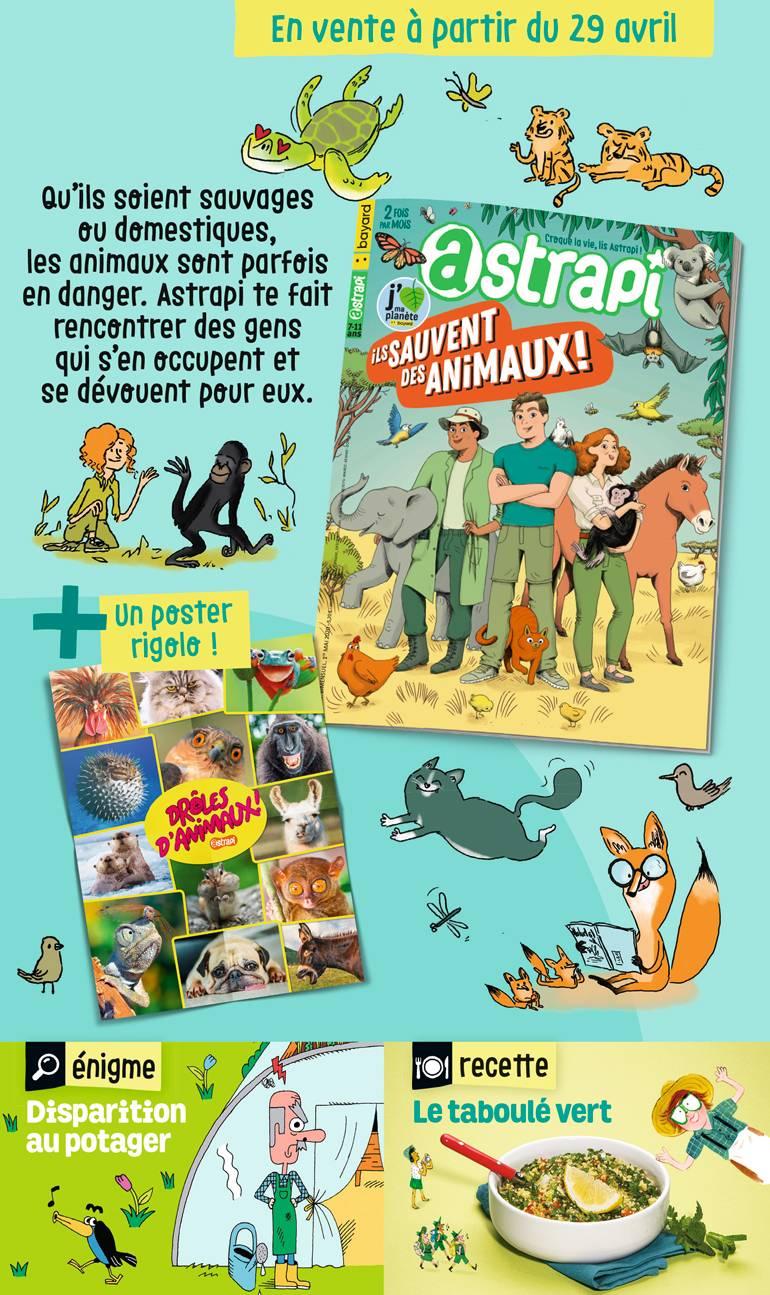 Sommaire du magazine Astrapi n° 947 du 1er mai 2020