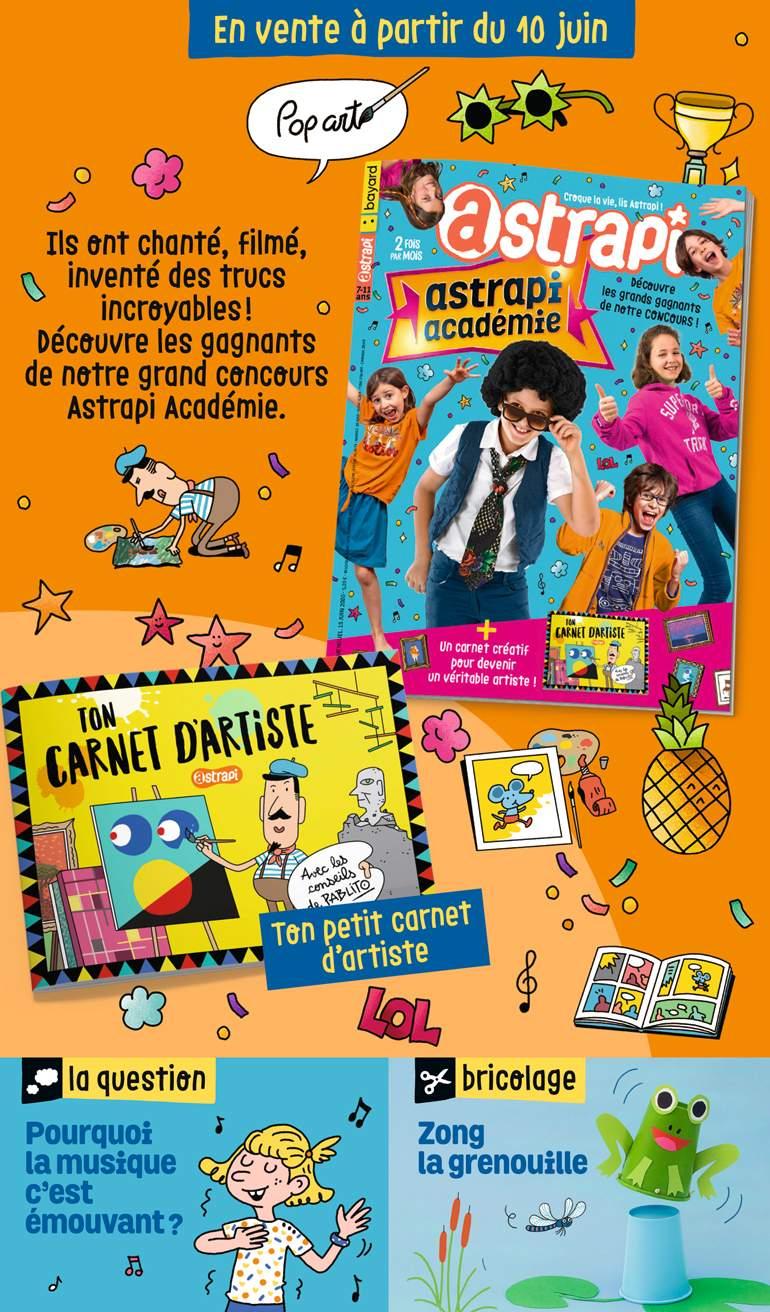 Sommaire du magazine Astrapi n° 950 du 15 juin 2020