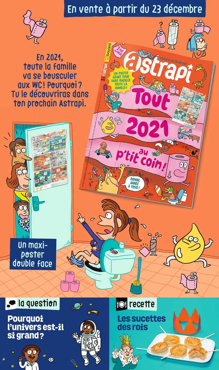 Au sommaire du magazine Astrapi n°961, 1er janvier 2021