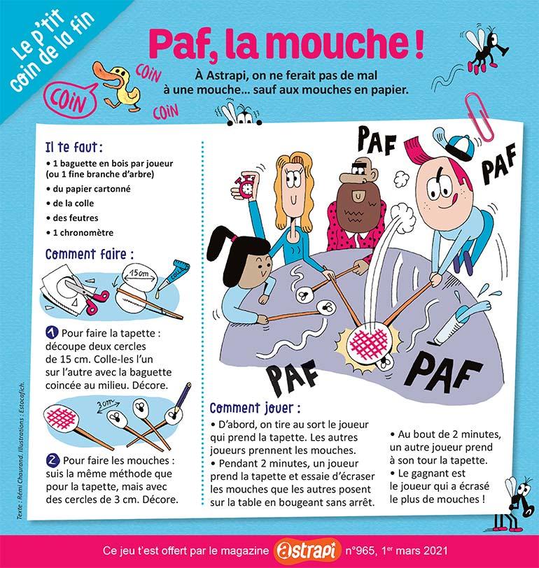 © Estocafich. Jeu Paf, la mouche !