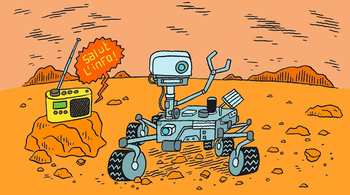 Salut l'info ! 12 février 2021 - Un robot sur Mars, masques et vive la radio !