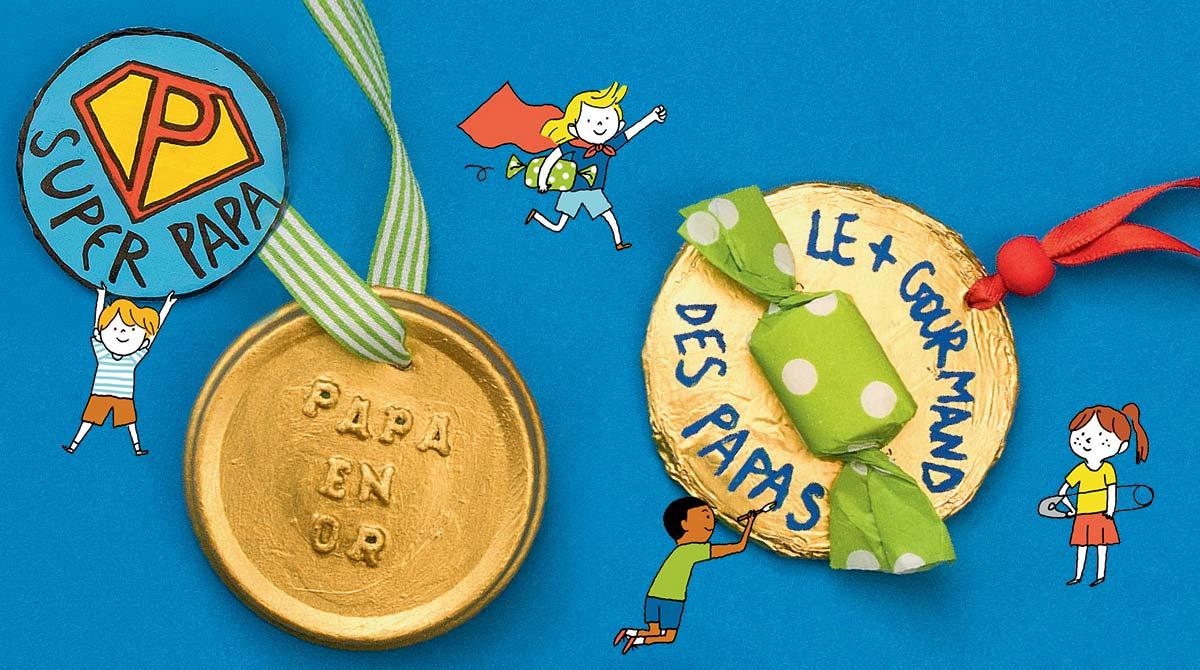 © Benoît Pelletier. Illustrations : Aki. Les médailles du meilleur papa.