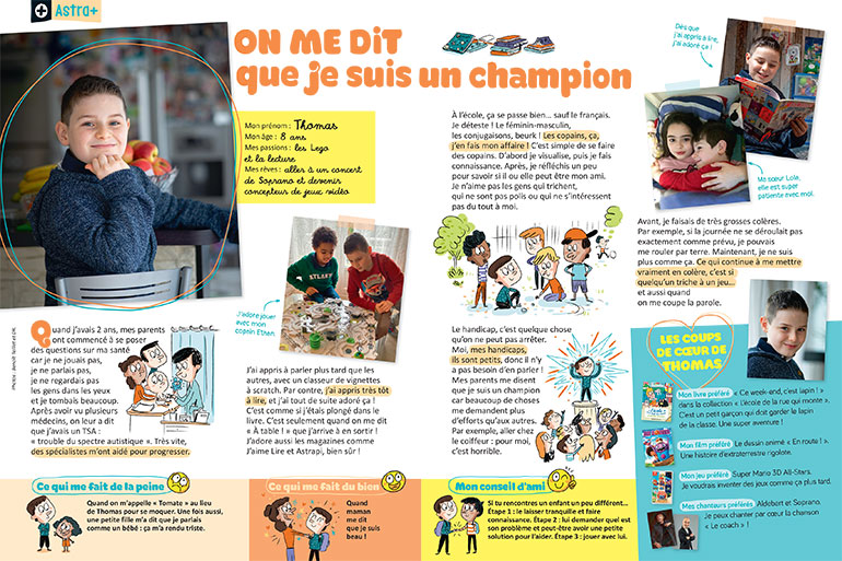 """Thomas : """"On me dit que je suis un champion"""" - Photos : Benoît Teillet et DR."""