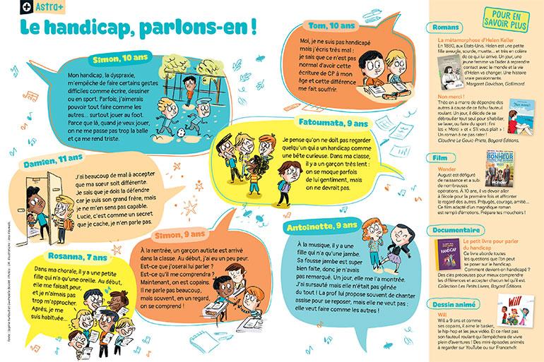 Le handicap, parlons-en ! Illustrations : Jess Pauwels.