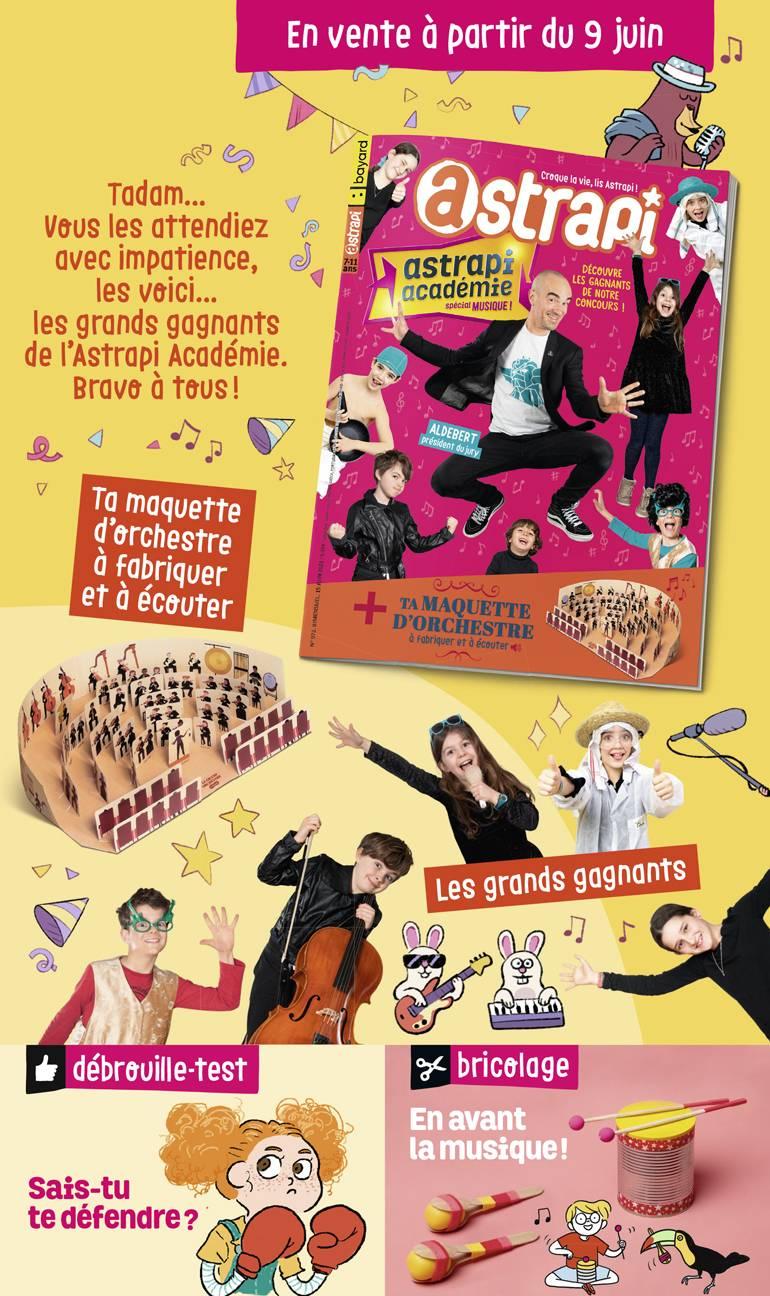 Sommaire du magazine Astrapi n°972, 15 juin 2021