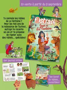 Sommaire du magazine Astrapi n°976, 15 septembre 2021 - Jean de La Fontaine, le roi de la fable