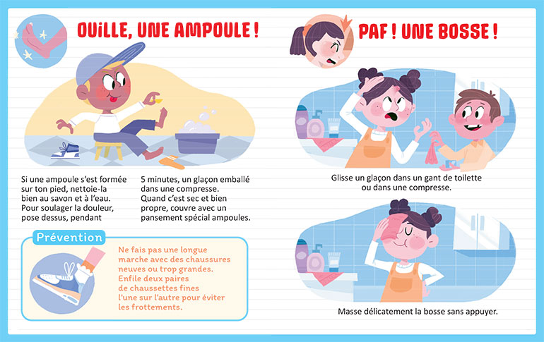 Ouille, une ampoule! Illustrations : Marie Touly.