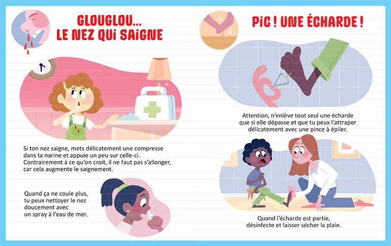 Glouglou… le nez qui saigne. Illustrations : Marie Touly.