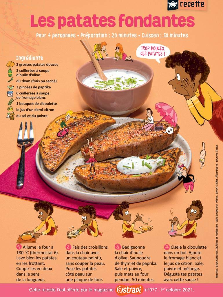 Recette : les patates fondantes. Photo: Benoît Teillet. Illustrations: Laurent Simon.