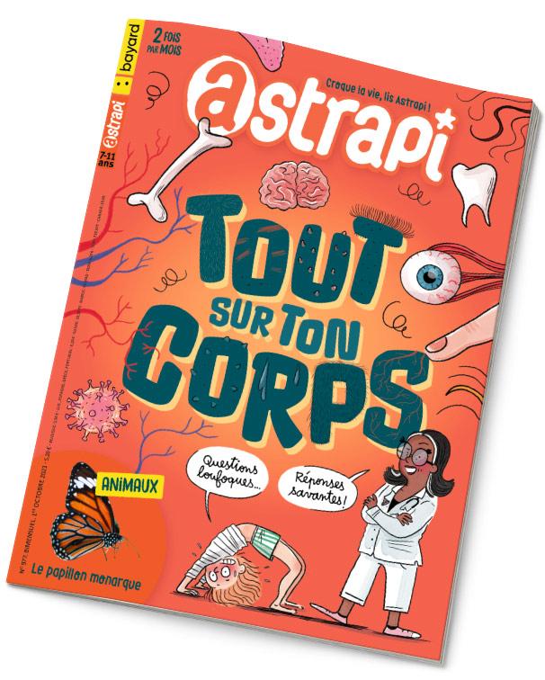 Couverture du magazine Astrapi n°977, 1er octobre 2021 - Tout sur ton corps