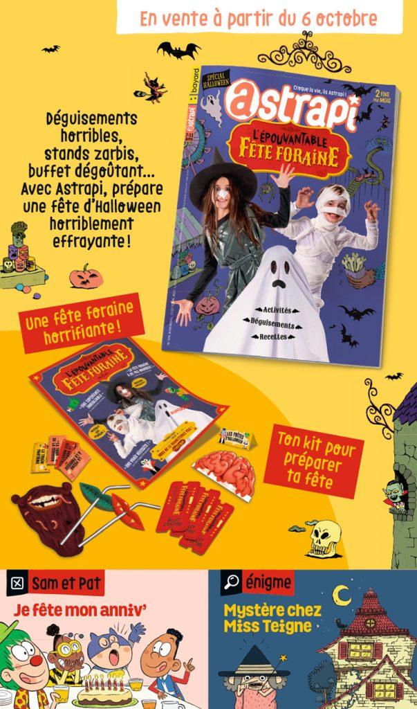 Couverture du magazine Astrapi n°978, 15 octobre 2021 - L'épouvantable fête foraine
